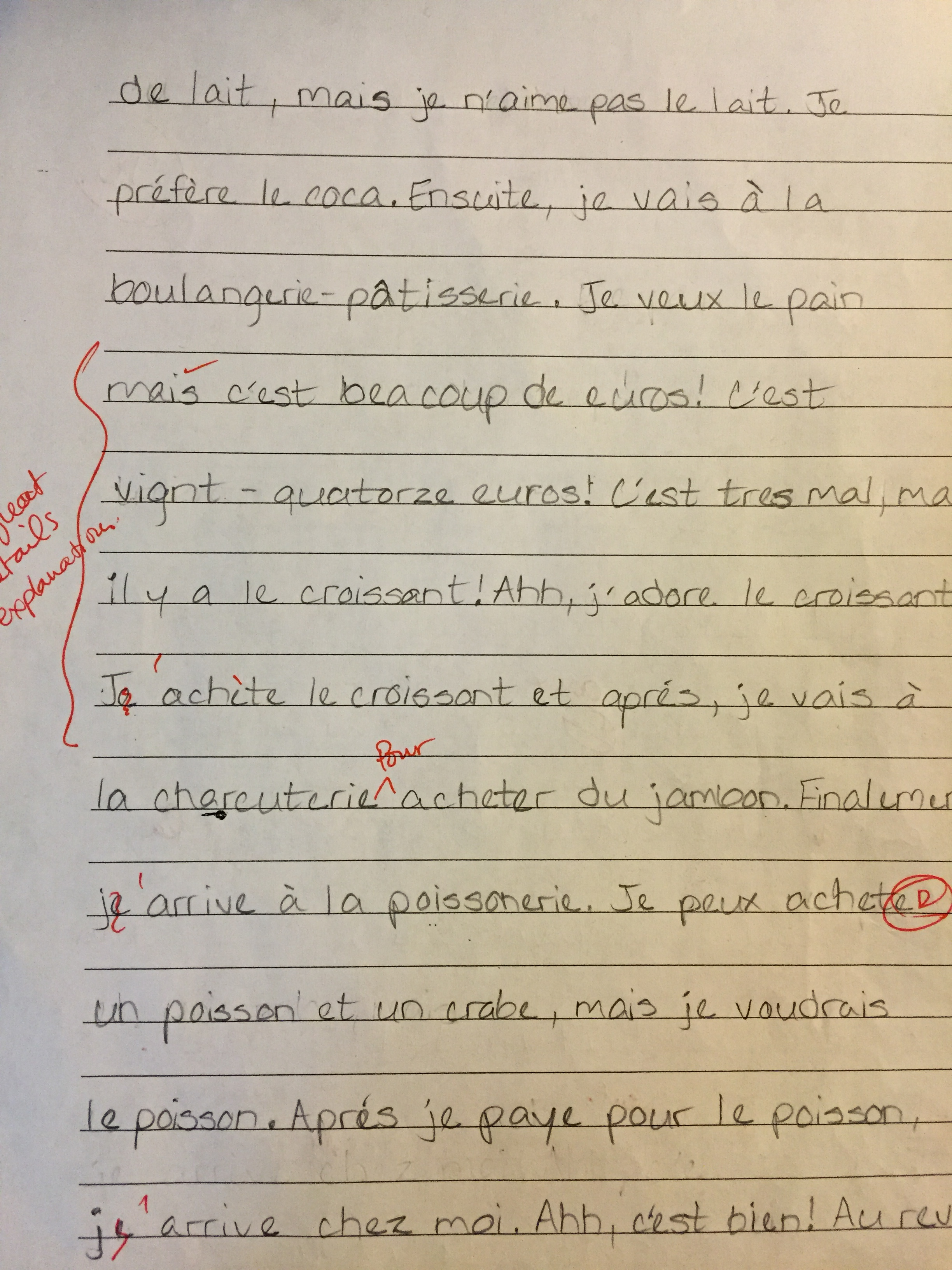 Help with essay writing my friend in french